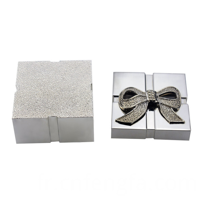 Zinc alloy square jewelry box