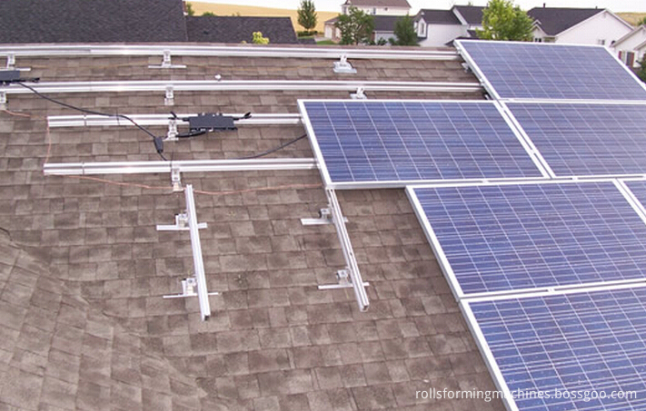 A Energia solar se formando máquina