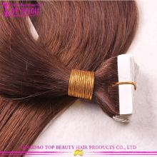 Extensões de cabelo da cor #6 fita por atacado de fita cabelo Popular Top Quality