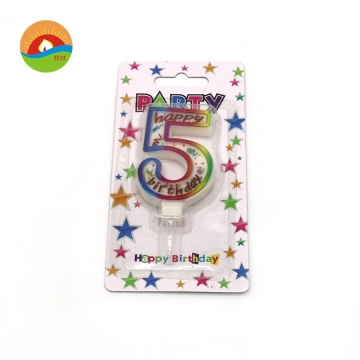 Color Point Happy Birthday Number Candle