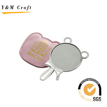Cute Korean Pocket Mirror with Leather Case (H08041)