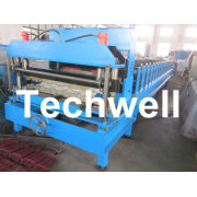 Hydraulic Color Steel Glazed Tile Roll Forming Machine For Wall Cladding, Metal Roof Tile