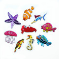 Sea World Animal Iron On Embroidery Patches Organism