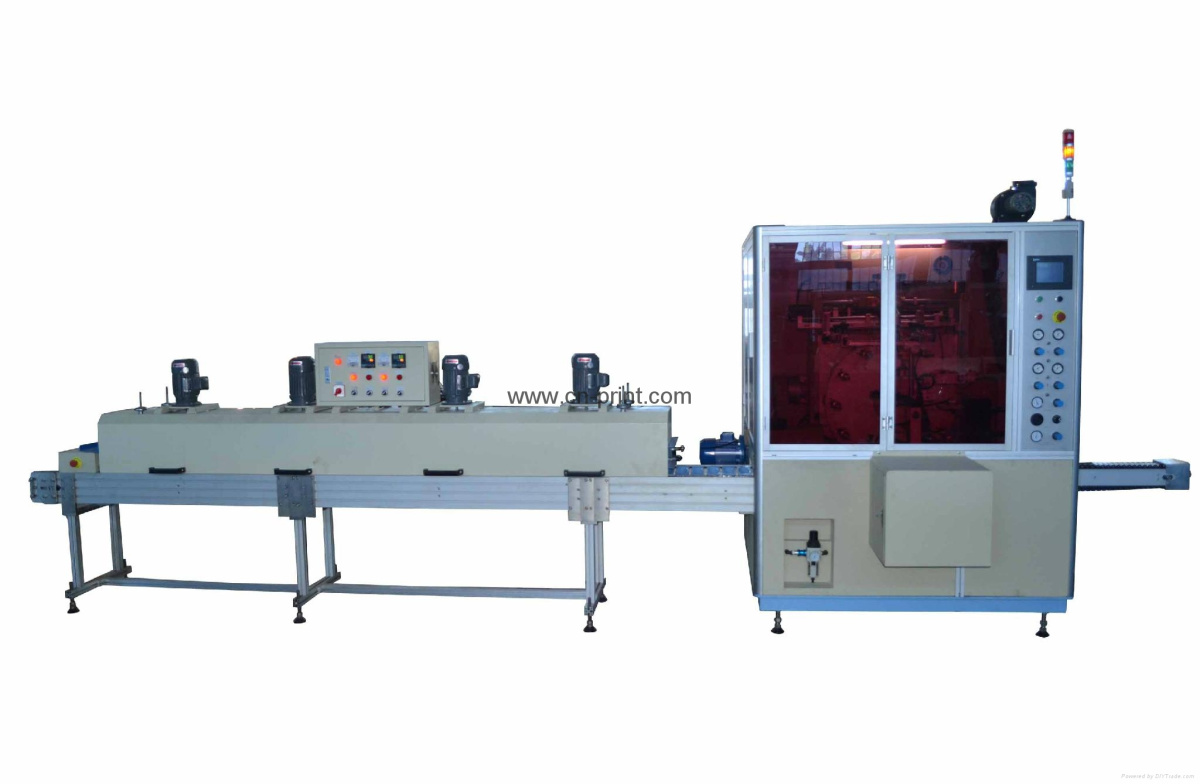 automatic screen printer with IR dryer