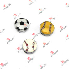 Esmalte diseño liso deportes diapositivas de diapositivas de bola joyería DIY (sc15121441)