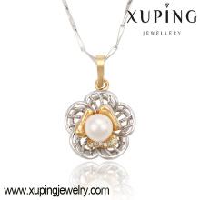 32645 multicolor elegante pera CZ flor en forma de joyería de imitación de moda collar colgante