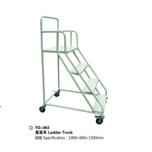 Steel Warehouse Truck Step Rolling Ladder with Wheels Yd-063