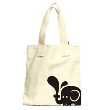 Lona branca mão sacolas de compras