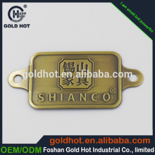 New product fashion accessory metal engraving machines nameplate for outdoor furniture