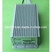 24V 200W Hochleistungs IP67 wasserdichtes LED-Streifen-Spg.Versorgungsteil