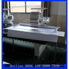 Mejor un Jefe equipo comercial bordado máquina precio para la tapa de la ropa camiseta / grande plana del bordado