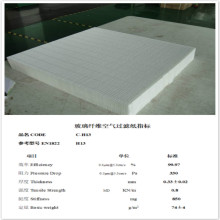 Πλαστικοποιημένο χαρτί φίλτρων Micron Fiberglass Hepa