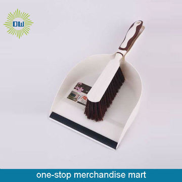 Convenient broom and dustpan set