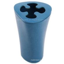 Azul escuro melamina titular da escova de dentes