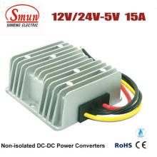 Convertidor de fuente de alimentación de 12VDC 24VDC a 5VDC 15A DC-DC