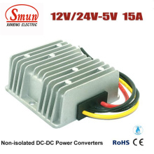 12VDC 24VDC a 5VDC 15A DC-DC Conversor de Fonte de Alimentação
