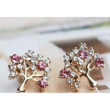Pendientes de joyas de diamantes en árbol de Navidad (XER13368)