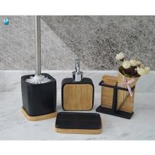 Accesorios de baño de moda conjunto de baño de polyresin respetuoso del medio ambiente y natural