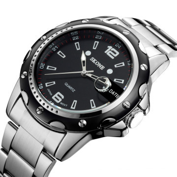2016 alibaba best seller sport style quartz watches men steel chain