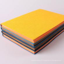 Impression en gros faite sur commande de cahier à couverture dure polychrome