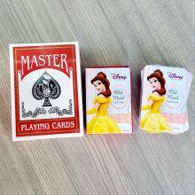 Kundenspezifische Form, die Spielkarte des Logopapiers annonciert
