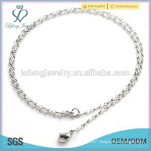 2.2mm width competitive price infinity 8 character chain, necklace plain chain for floating memory locket