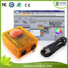 Logiciel de contrôleur de décodeur Sunlite DMX 2048FC
