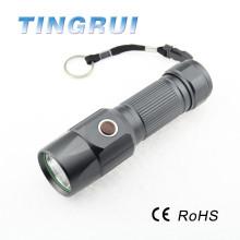 Lanterna elétrica da tocha do diodo emissor de luz do equipamento de 200 Lumen ao ar livre com bateria 26650