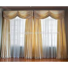 Nouveaux rideaux turcs royaux de mode tissu de soie organique pour rideaux