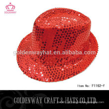 Chapéu de fedora engraçado festa de lantejoulas