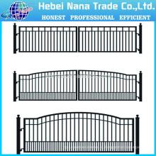 Portão de casa projeta / portões de fazenda de alumínio duplo Swing Gate (fabricante de China)
