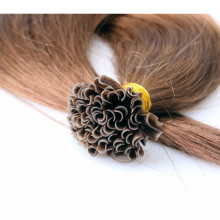 100% natural black human hair extensions ,virgin brazilian hair flat tip hair for women