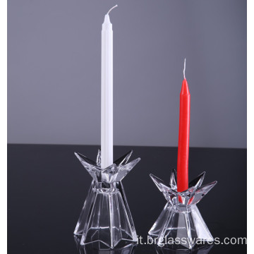 Set di 2 Supporti Candlestick Star Shine Star