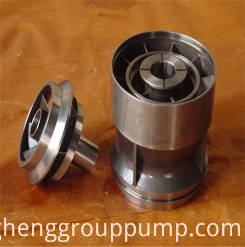 Centrifugal submersible electric pump blade guide wheel