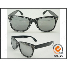 Fashion Sunglasses for Lady Black Colour with Rivet Hot Sale Sunglasses (20371-1)