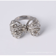 Cheap Price Fashion Bow Ring with Rhinestones