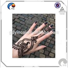Etiqueta engomada impermeable del tatuaje del estilo de Mehndi de la alheña en arte caliente del cuerpo de la venta