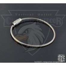 Stainless Steel Wire Keychain Cable Key Ring For Outdoor
