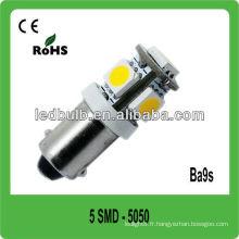 5 pcs 5050 blanc pur Ba9s12V conduit des lampes de bateau