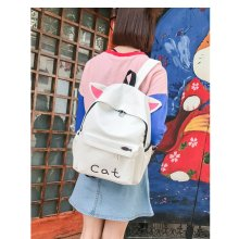 Koreanische Version Harajuku High School Student Leinwand Rucksack