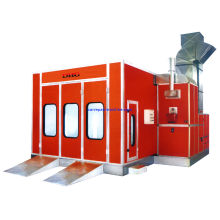 Electric Infrared Car Spray Booth , Vehicle Spray Painting Booths With 3-fold Door