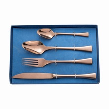 Rose Gold Knife Fork Spoon Flatware Cutlery Set