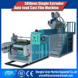 LLDPE 500mm single extruder auto loading cast stretch film making machine