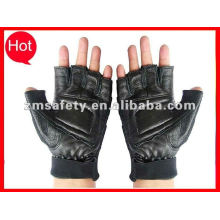 Finger cut leather motor bike gloves for racing