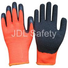Guante de látex de trabajo de alta visibilidad (LY2025)