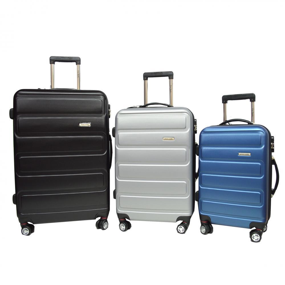 Fashion Grain ABS Luggage set Gun Trolley Airplane Wheels