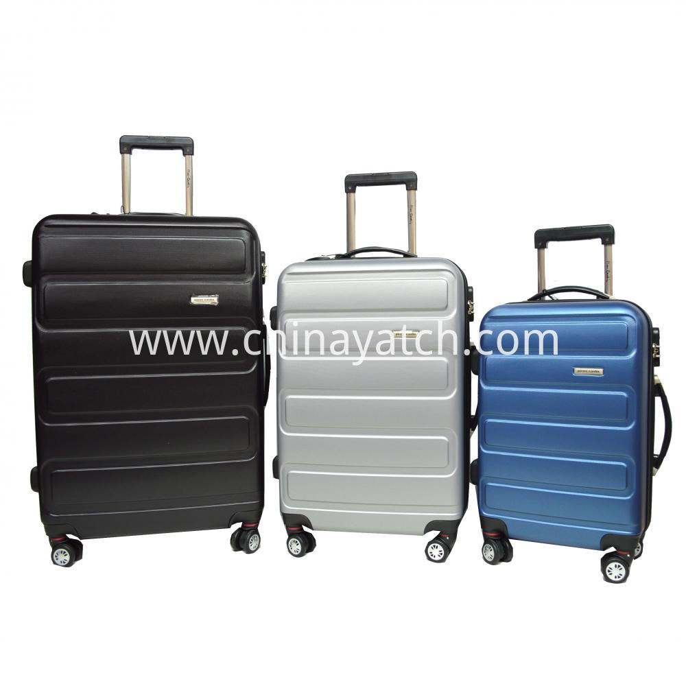 Fashion Grain ABS Luggage set Gun Trolley Airplane Wheels