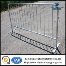 Barrière de contrôle des foules Barrière de sécurité temporaire de 2,3 m Barrières d'escrime