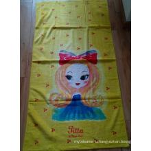(BC-BT1021) High Quality 100% Velvet Cartoon Beach Towel