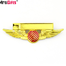 Your Own Design Metal Blank Lapel Suit Pilot Wings Hard Enamel Custom Pin Badge